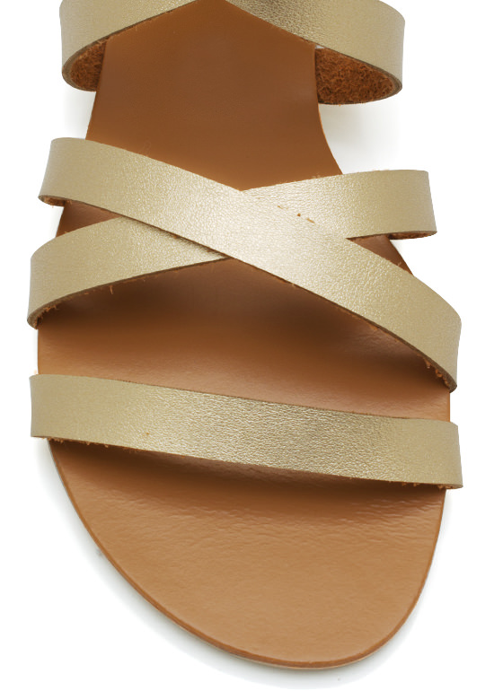 Metallic Granola Girl Sandals GOLD