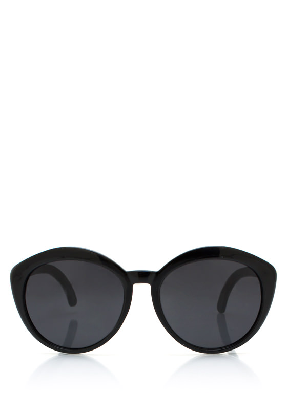 New Stuff: Top Heavy Flare Frame Sunglasses BLACK