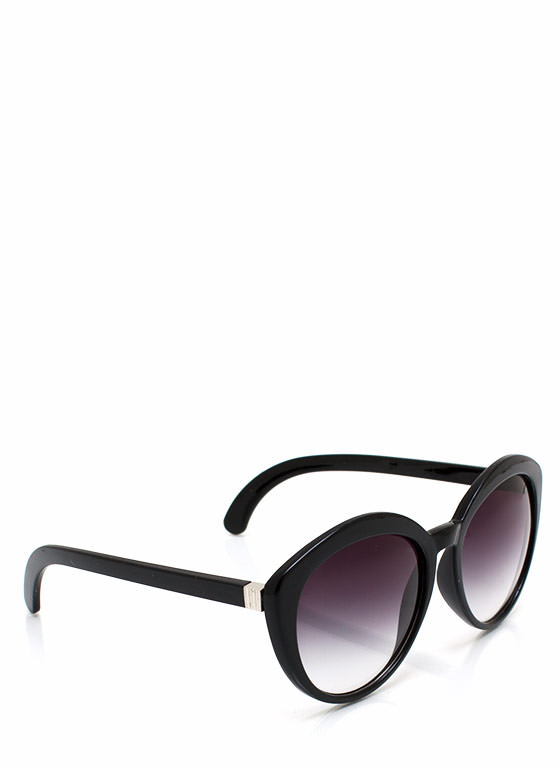 Top Heavy Flare Frame Sunglasses BLACKPURP