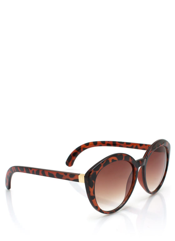 Top Heavy Flare Frame Sunglasses DKTORTOISE
