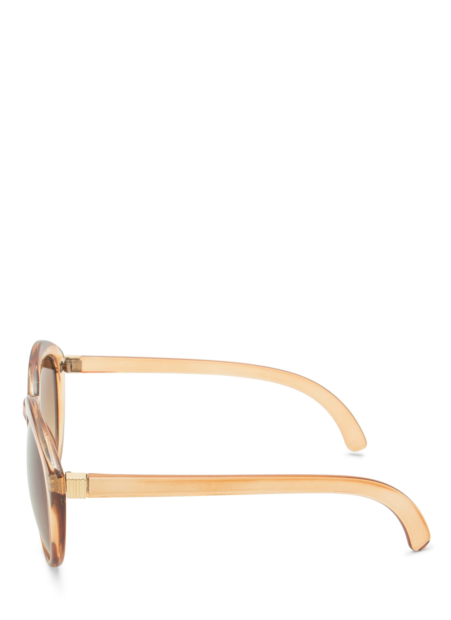 New Stuff: Top Heavy Flare Frame Sunglasses DRKBROWN