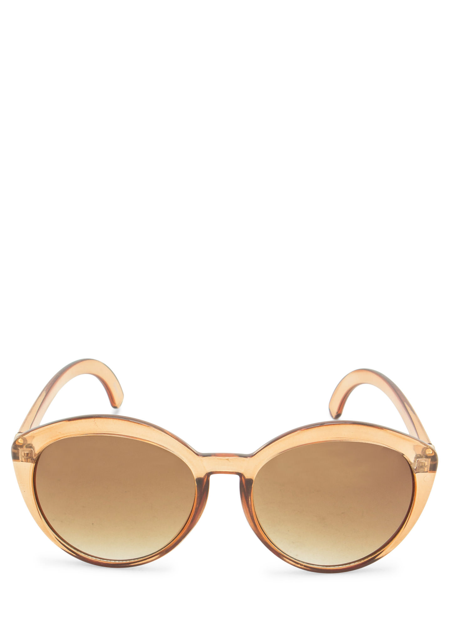 Top Heavy Flare Frame Sunglasses DRKBROWN