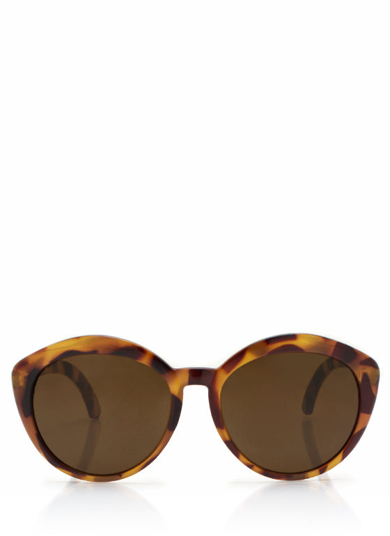 Top Heavy Flare Frame Sunglasses LTTORTOISE