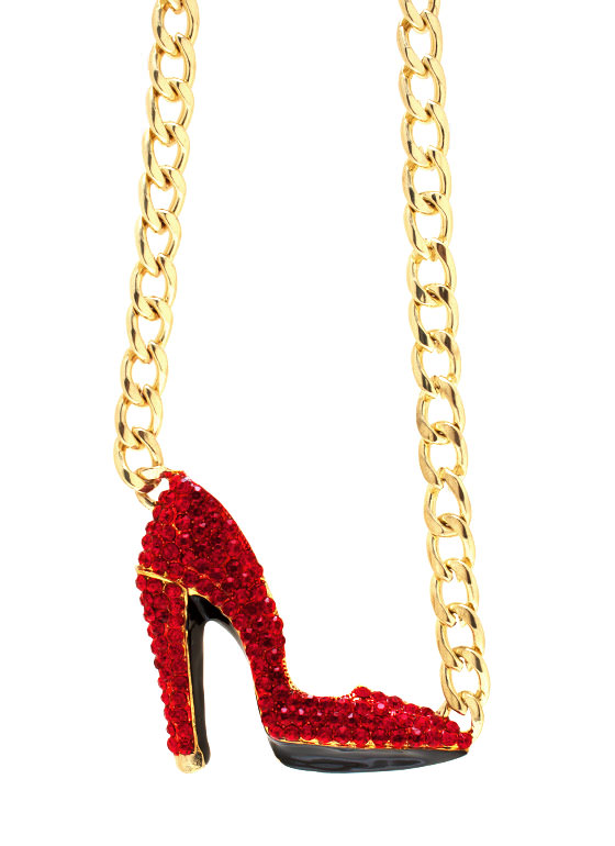 Over The Heel Necklace GOLDRED