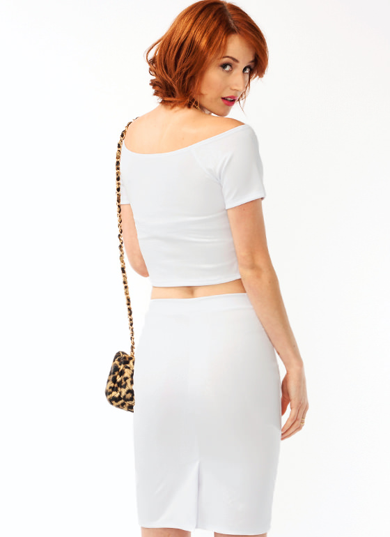 Sneaky Snake Cropped Top WHITE