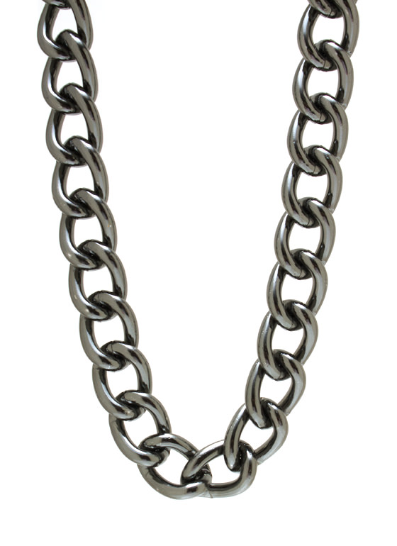 Chunky Chain Necklace PEWTER