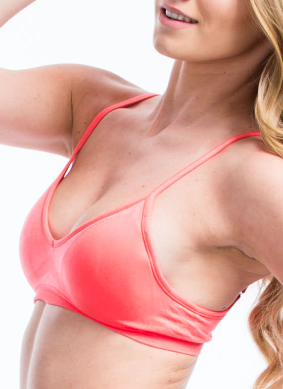 Be A Good Sport Seamless Bra CORAL