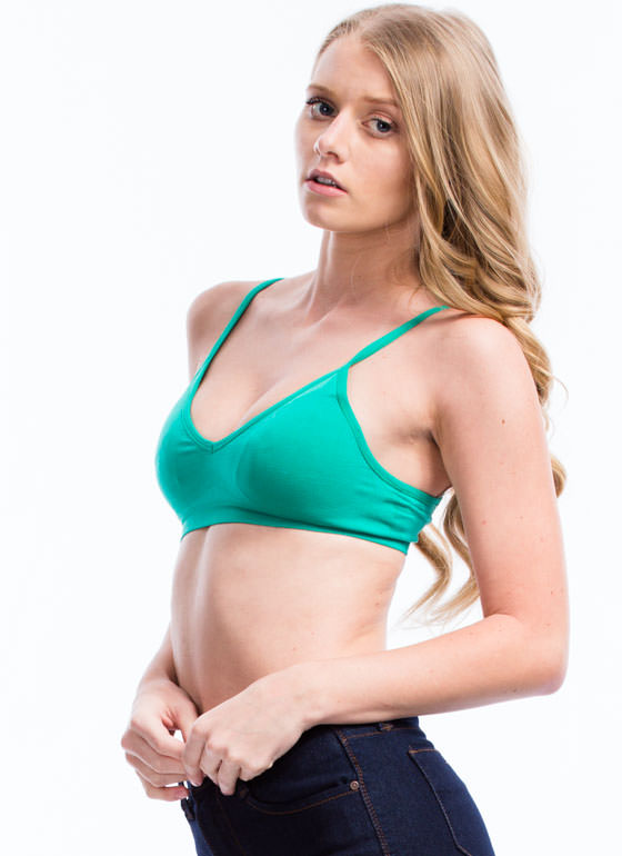 Be A Good Sport Seamless Bra GREEN