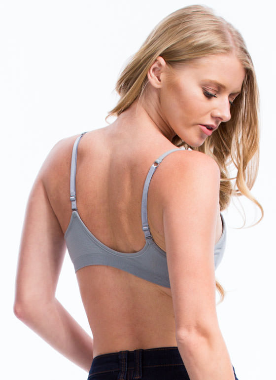 Be A Good Sport Seamless Bra GREY