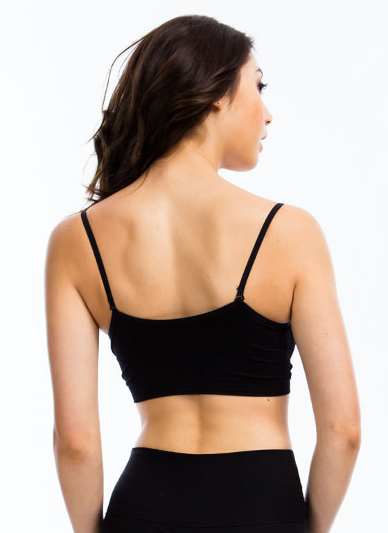 Ruched Bralette BLACK