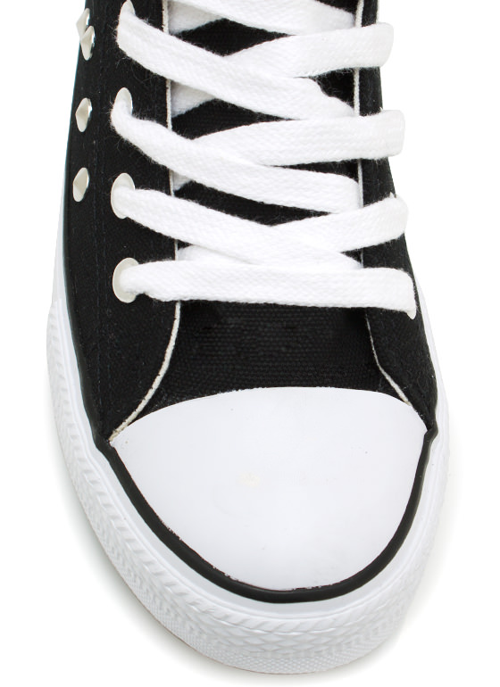 Stud Y Time Canvas Sneakers BLACK