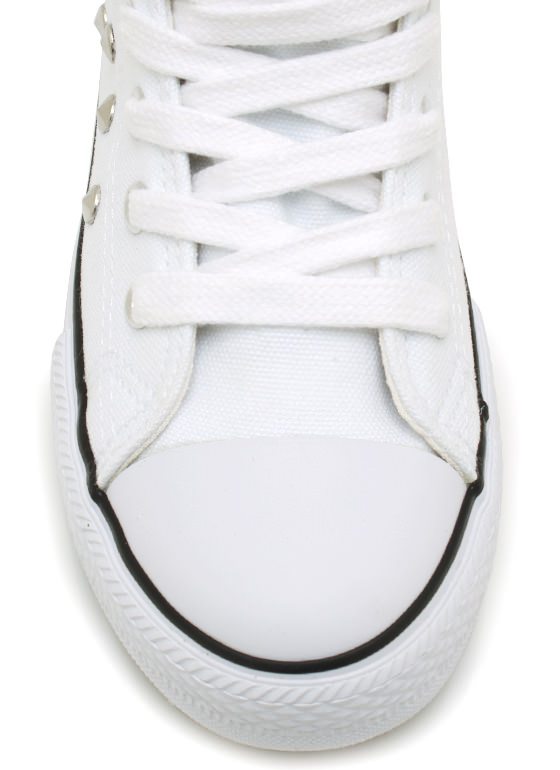 Stud Y Time Canvas Sneakers WHITE