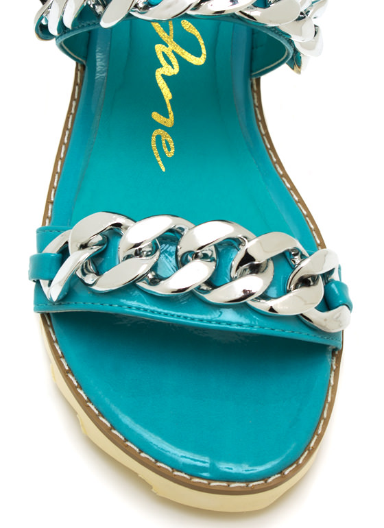 2 Chains Jagged Sandals BLUE