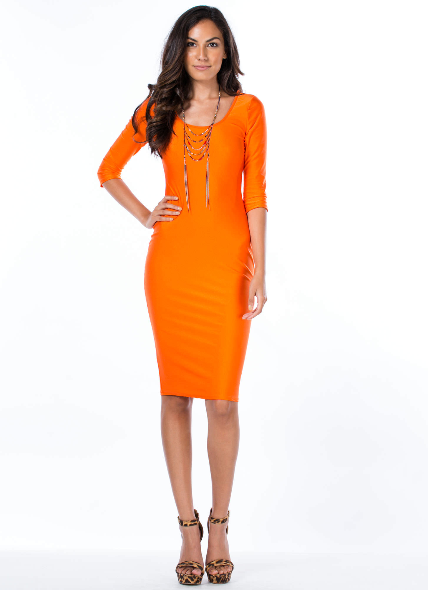 Whats The Scoop Dress ORANGE