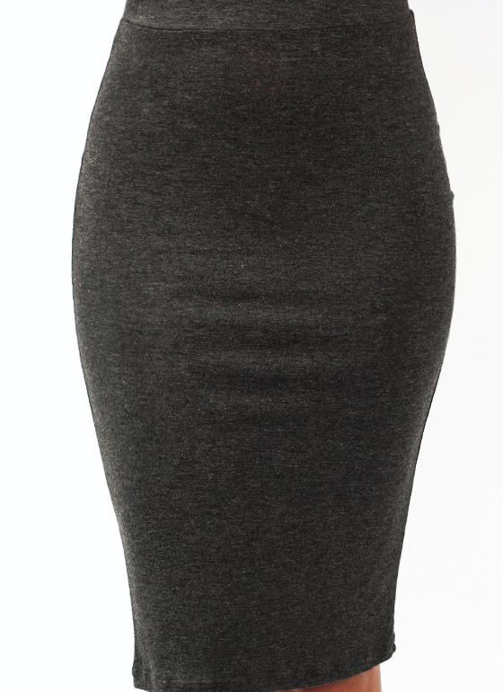 Anywhere Anytime Pencil Skirt CHARCOAL