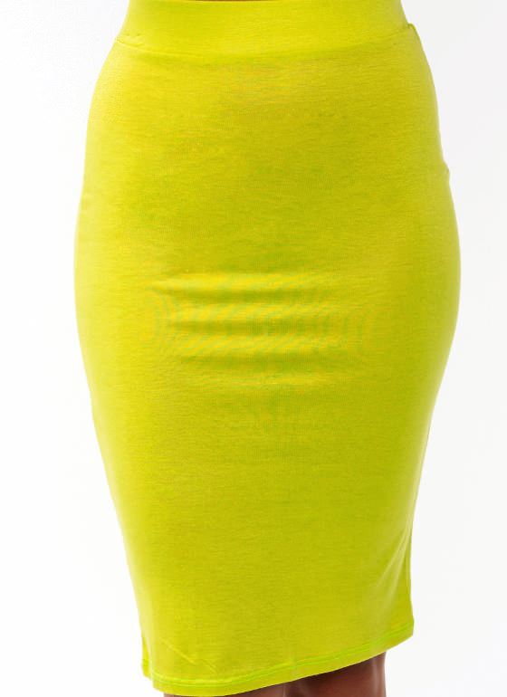 Anywhere Anytime Pencil Skirt CITRON
