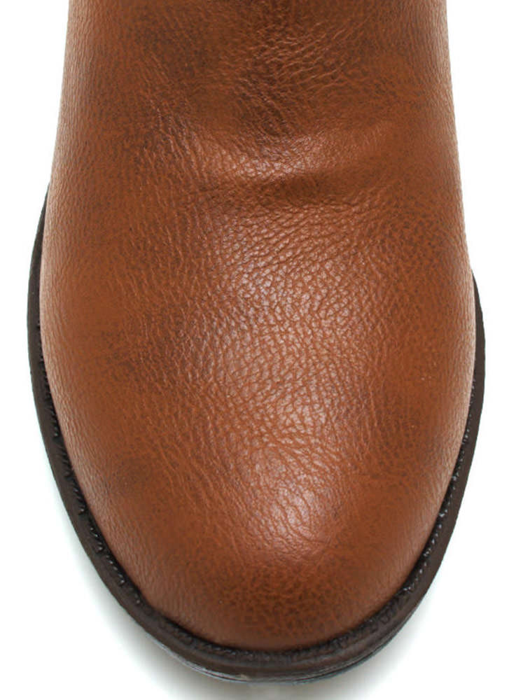 Buckle Back Riding Boots CHESTNUT