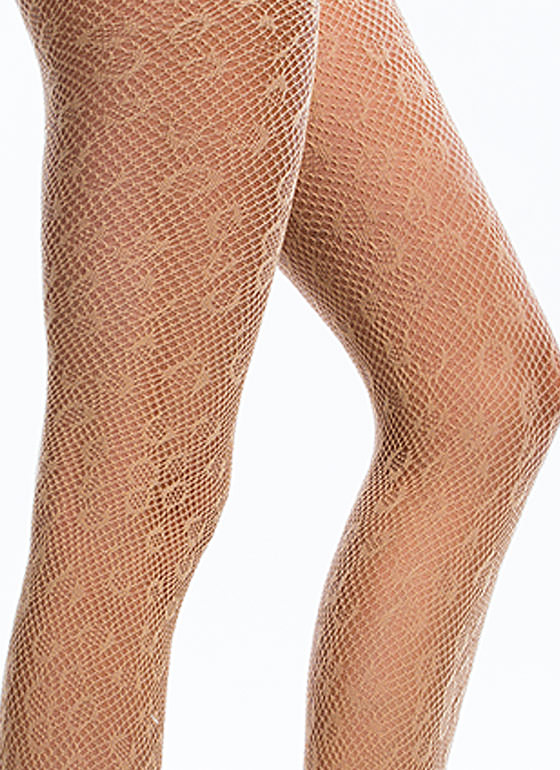 Wild Child Leopard Fishnet Stockings BEIGE