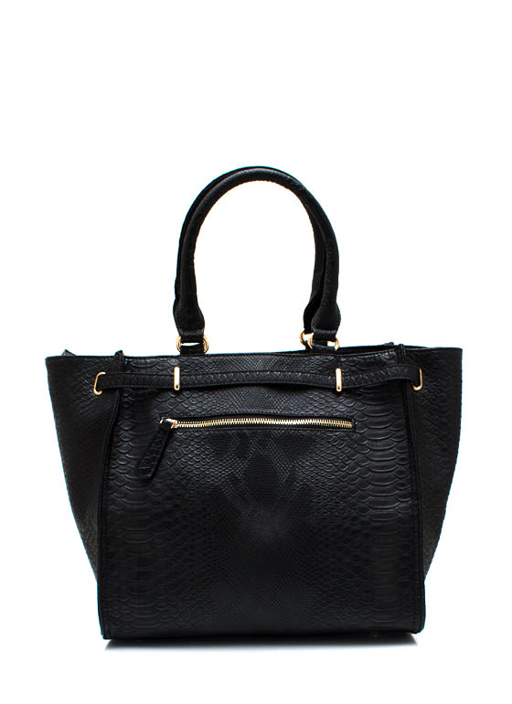 Cold Blooded Reptile Handbag BLACKGOLD