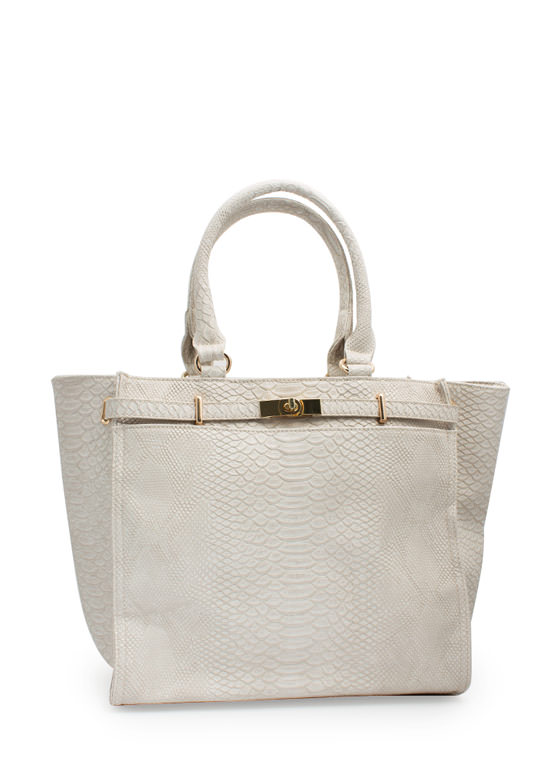 Cold Blooded Reptile Handbag IVORY