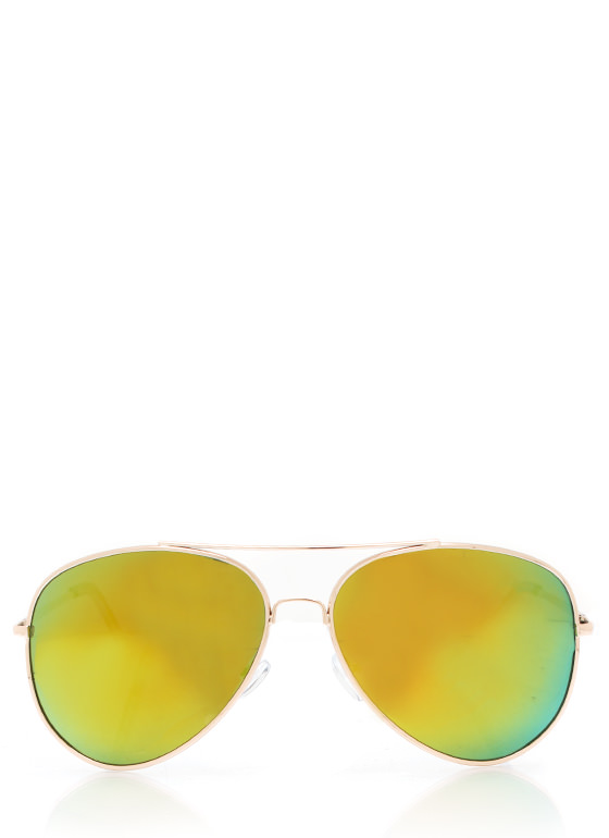 De Colored Sunglasses LIMEGOLD