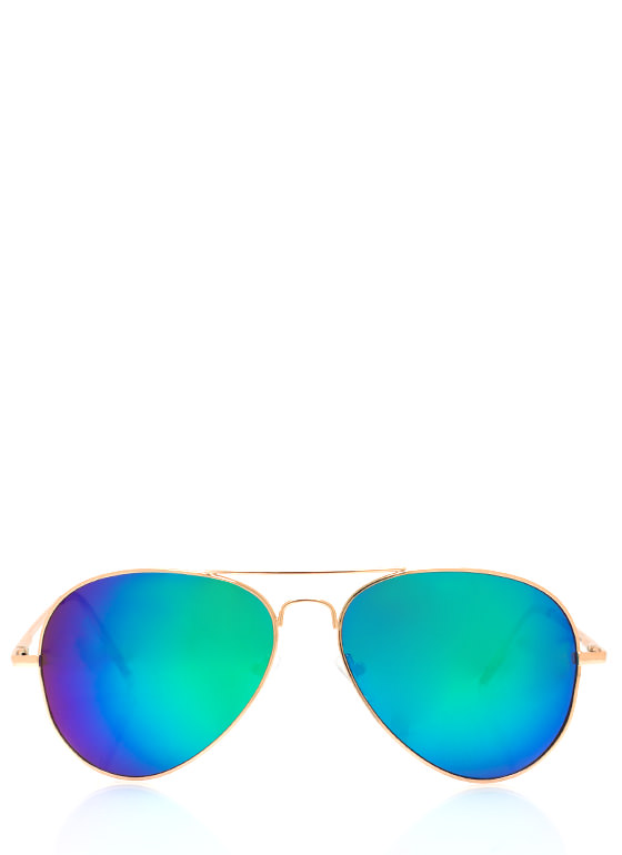 Color Trip Sunglasses TEALGOLD