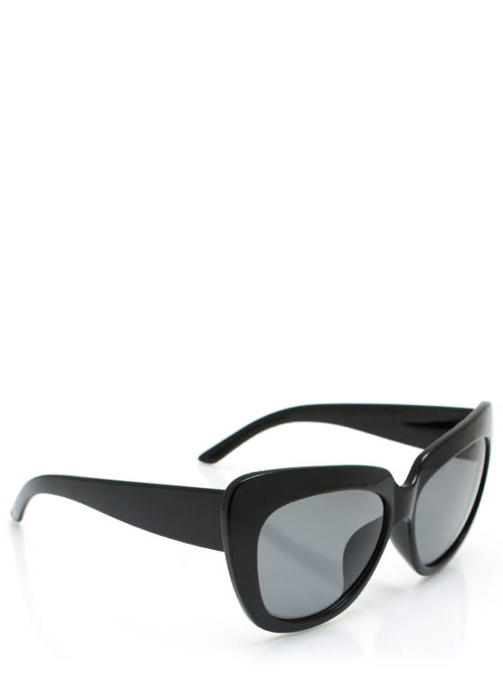 Cat Lady Sunglasses BLACK