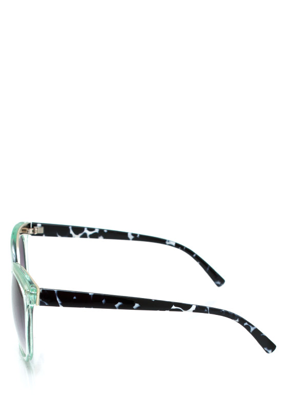Wired In Cat Eye Sunglasses MINT