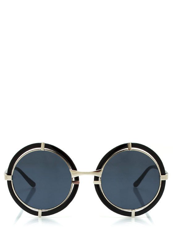 Target Locked Round Sunglasses BLACKNAVY