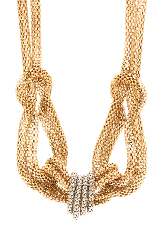 Knotty Girl Chain Necklace Set GOLDSILVER