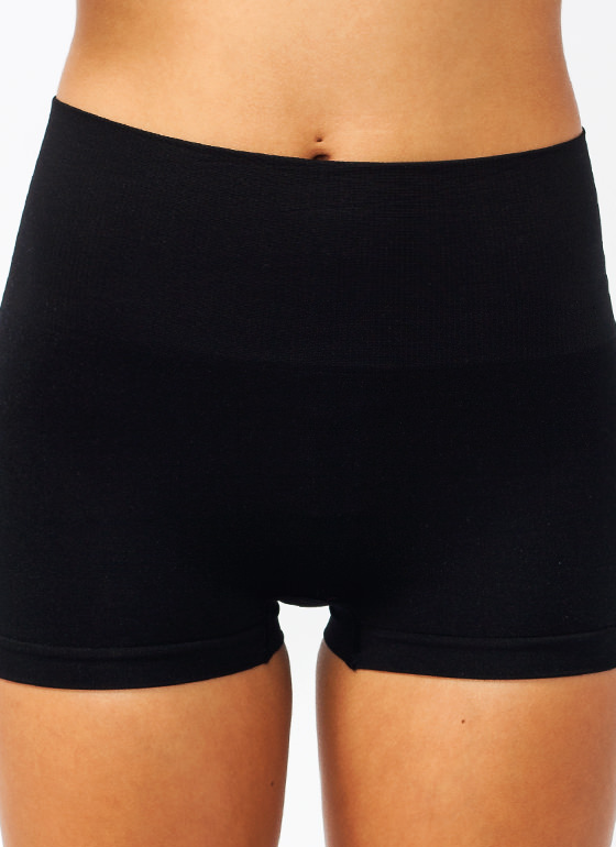 High Waisted Tummy Control Shorts BLACK