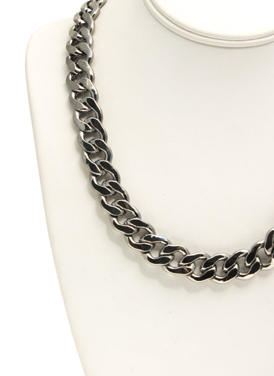 Sweet 'N Simple Chain Necklace Set PEWTER
