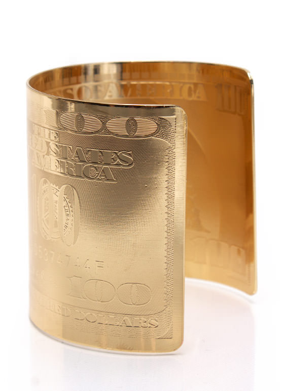 Mo Money Mo Problems Cuff GOLD