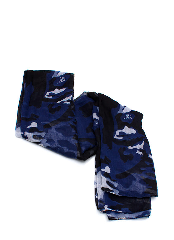 Covered In Camo Scarf NAVY