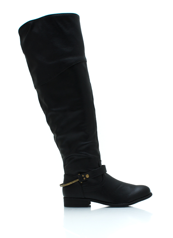 Pedal To The Metal Riding Boots BLACK