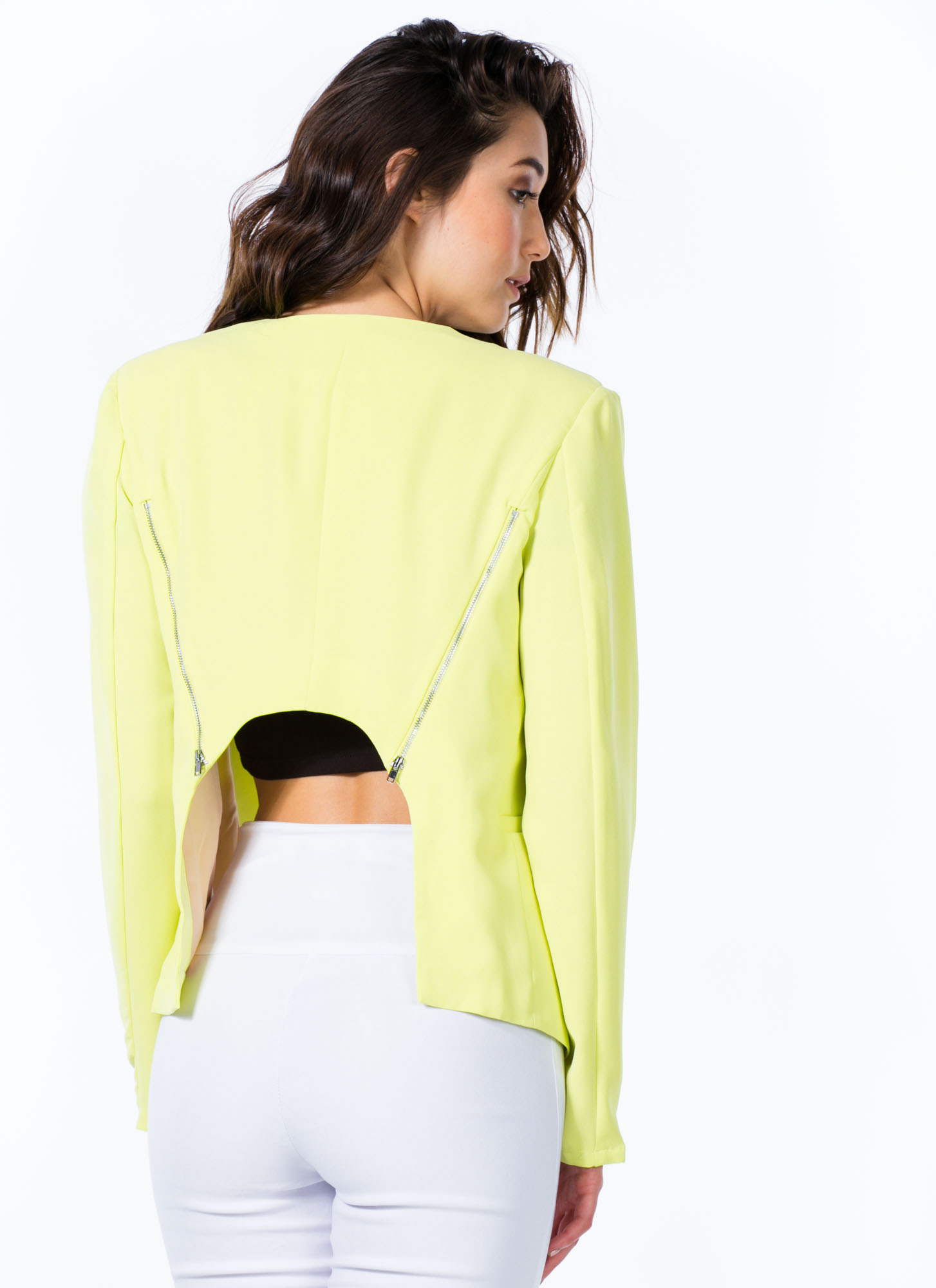 Curve Back Blazer LIME