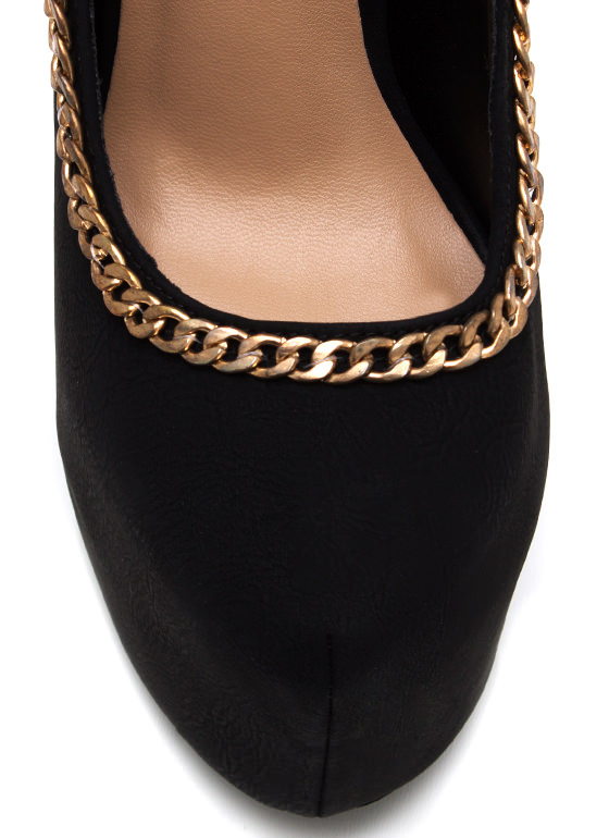 Chain On My Parade Pumps BLACK