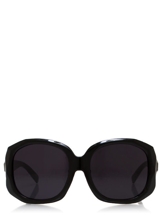 Too Faceted Sunglasses BLACKGOLD