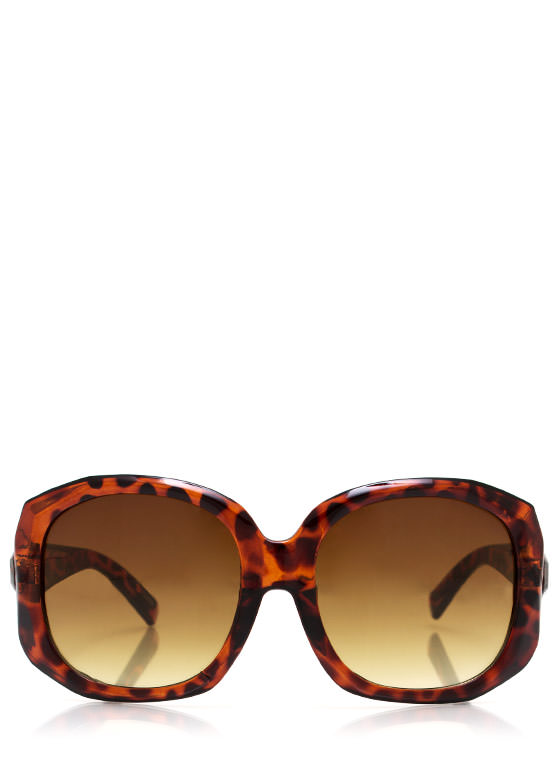 Too Faceted Sunglasses TORTGOLD
