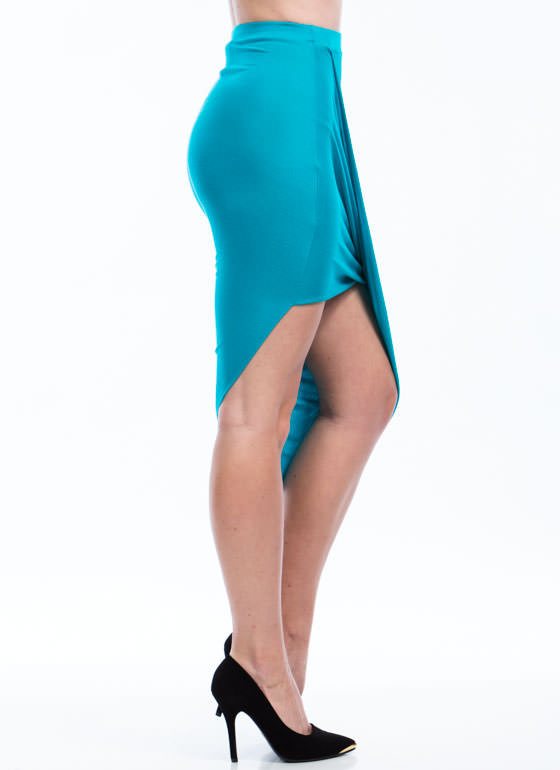 Drape Up Asymmetrical Skirt JADE
