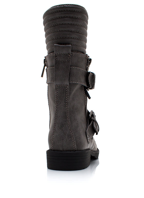 Zip It Good Combat Boots CHARCOAL
