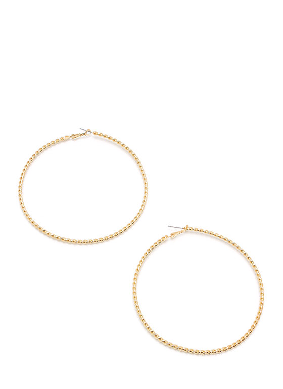 A Little Twisted Hoop Earrings GOLD