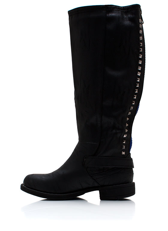 Stud Y Time Riding Boots BLACK