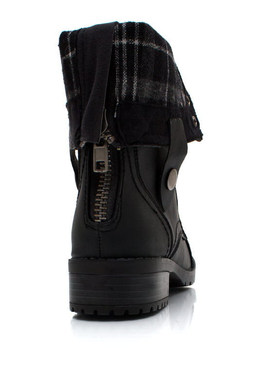 Keep Tabs Combat Boots BLACK
