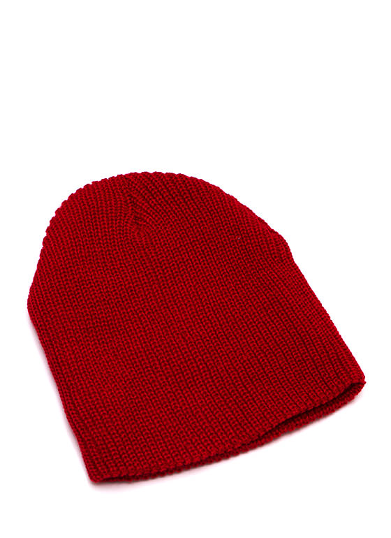 Heads Up Knit Beanie RED