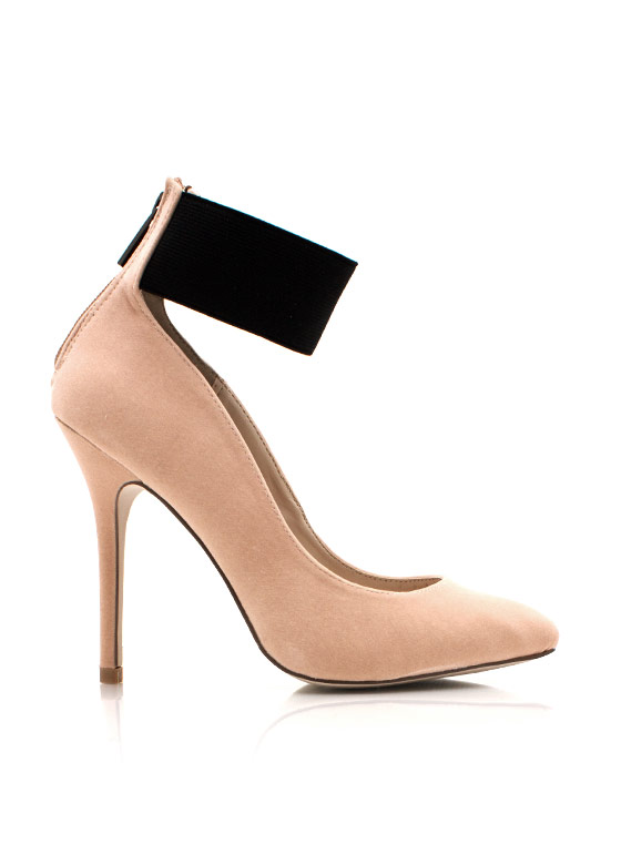 Wide Ankle Strap Pumps NUDE