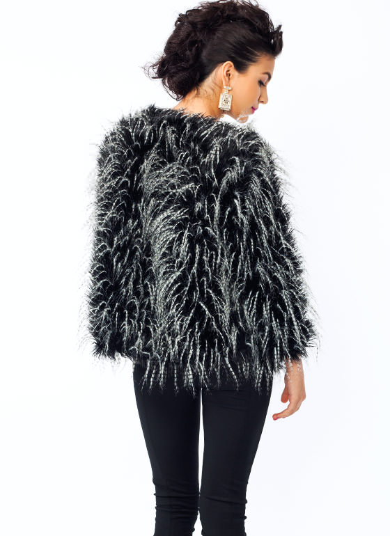 Featherweight N Fur Jacket BLACKWHITE