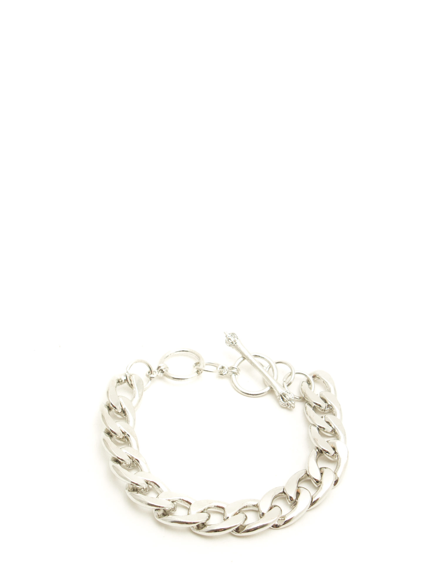 Chain Link Crown Toggle Bracelet SILVER