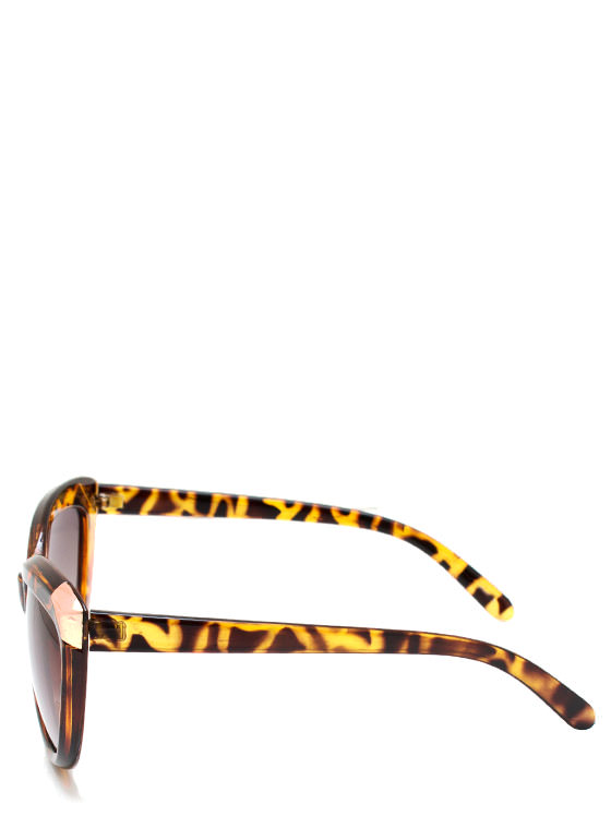 Hot Tip Cat Eye Sunglasses LTTORTGOLD