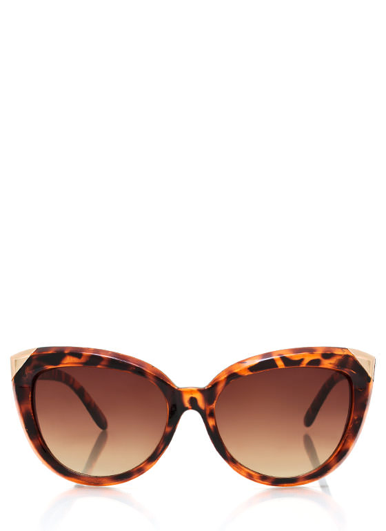 Hot Tip Cat Eye Sunglasses TORTGOLD
